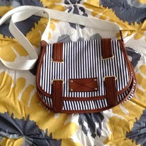 ⚓️H&M NWOT nautical cotton stripe crossbody  purse